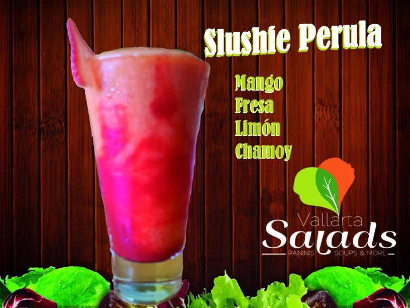Slushie Pérula: Mango, Fresa, Limón y Chamoy