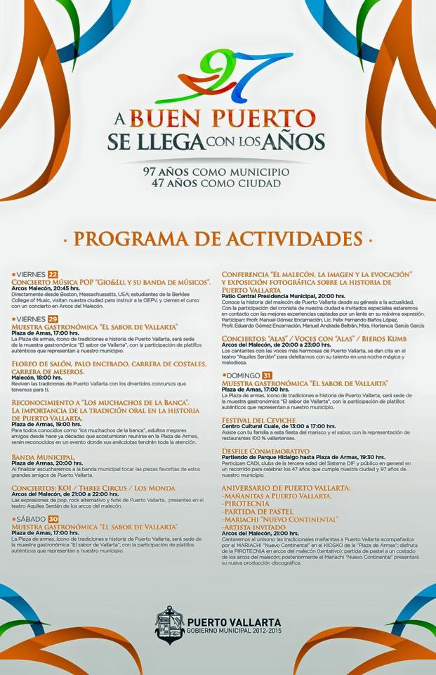 Actividades de Celebración Aniversario de Puerto Vallarta 2015
