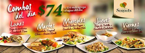 Nuevos Combos del Día en Vallarta Salads, Nuevo Vallarta.